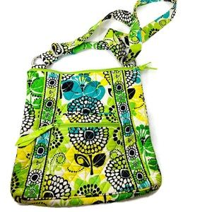 Vera Bradley Whimsical Green Cross Body Bag Purse